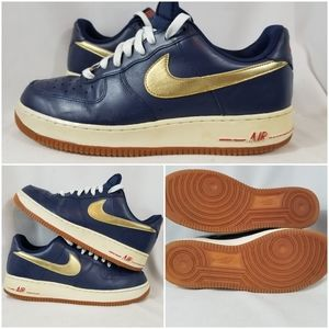 Nike Air Force 1 Olympic Navy Leather Shoes